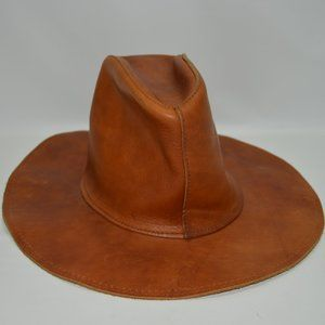 Skully's By Henschel USA Made Vintage Leather Hat